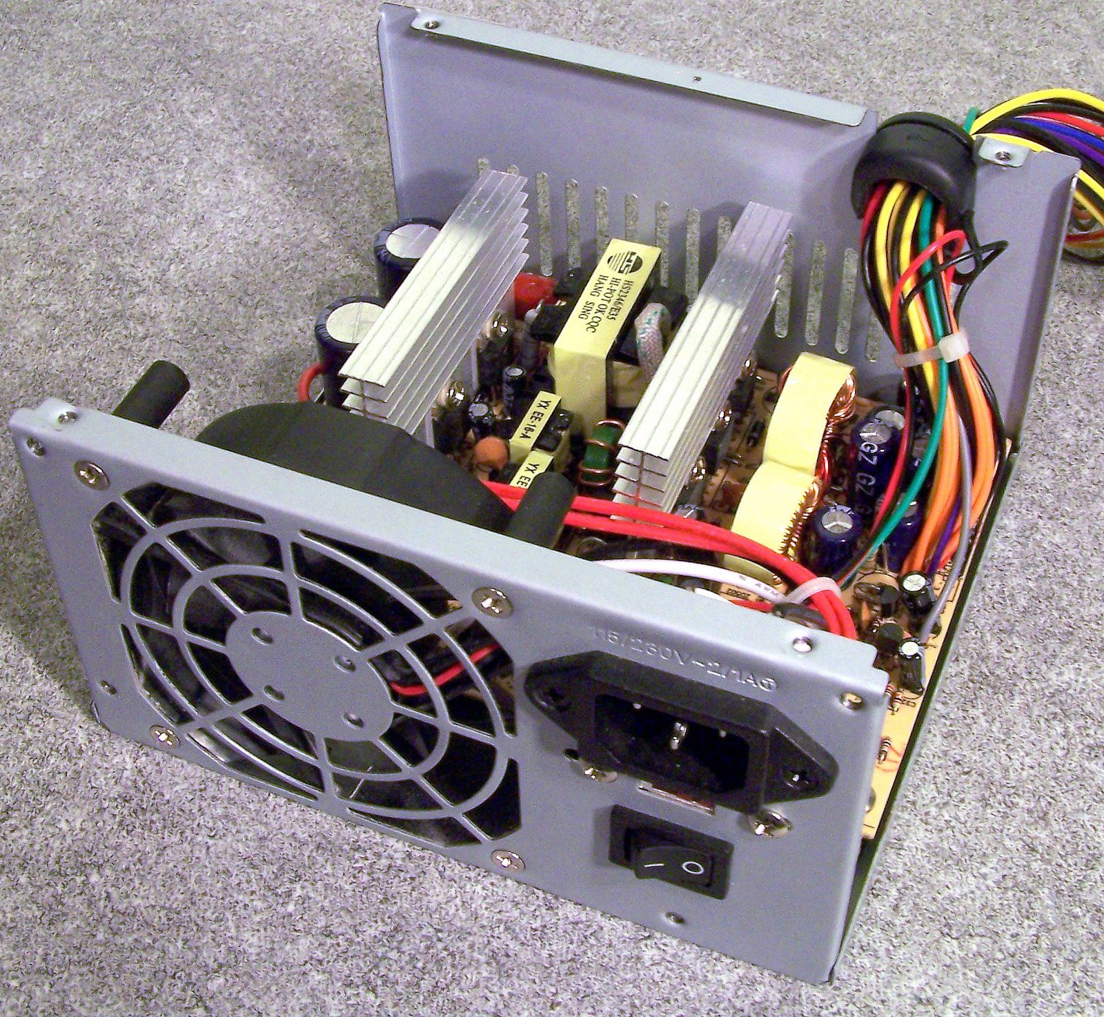 After installing the power supply, everything seemed to power up just